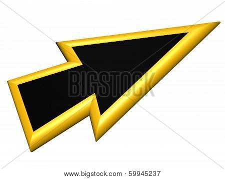 Yellow And Black Arrowhead