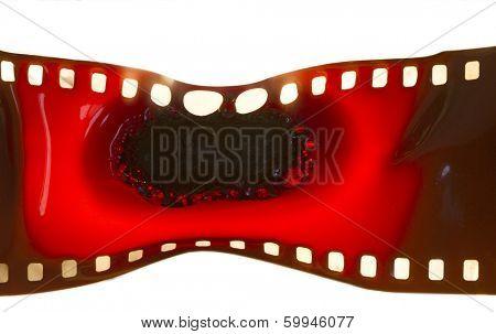 35 mm film burnt