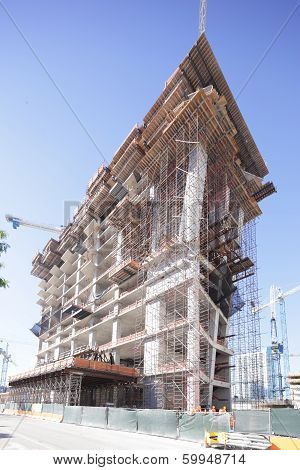 Stock image of highrise construction