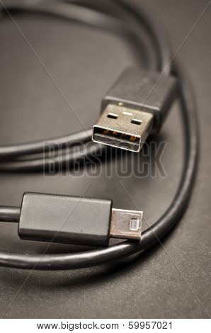 USB and mini USB Cable