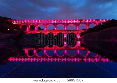 The Pont Du Gard, Southern France, Europe.