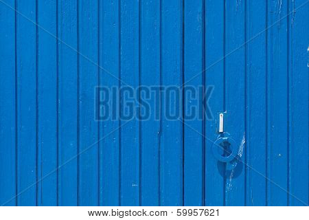 Old Wooden Blue Door.