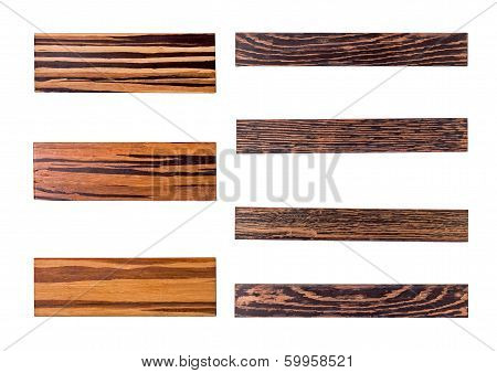 Seven golden wood panels