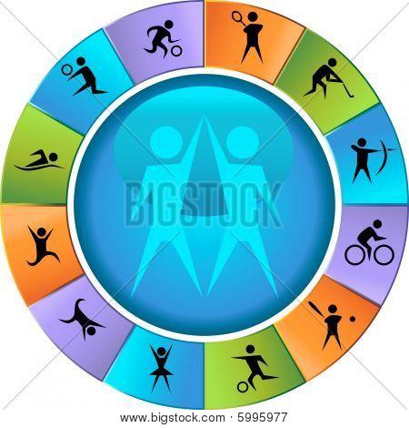 Sport Symbol Laufradsatz