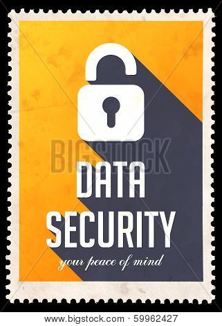 Data Security on Yellow in Flat Design.
