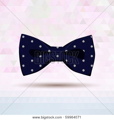 Dark blue vector bow-tie patterned by dots