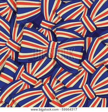 Pattern of Britain flag bow-tie