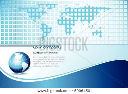 Design Template with Earth Globe and Map