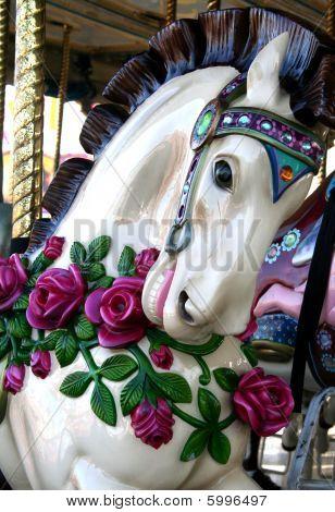 Floral Carousel Horse