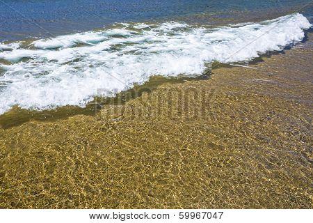 Surf of Aegian sea