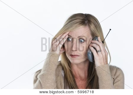 Beautiful Woman Talking On Phone