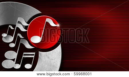 Music Metal And Red Business Card