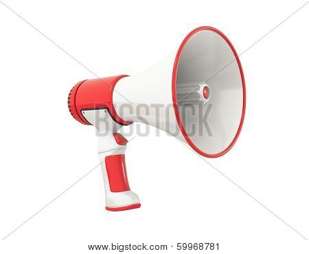 Megaphone Red Perspective
