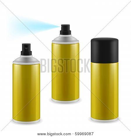 Golden spray cans