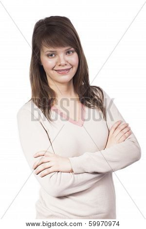 Smiling Caucasian Young Woman