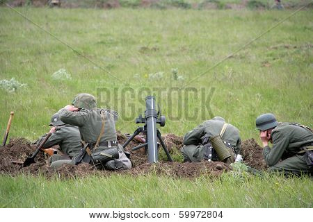 Odessa, Ukraine - May 6: Fragment Reconstruction Combat Events In 1943, In The Battle Of Odessa In T