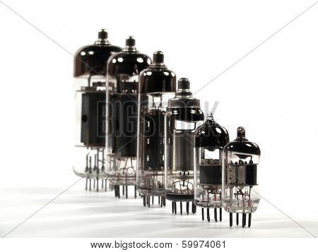 Rank of old radio tubes