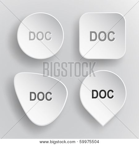 Doc. White flat raster buttons on gray background.