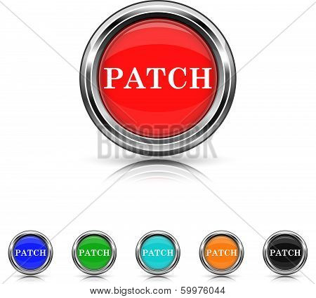Patch Icon - Six Colors Vector Set