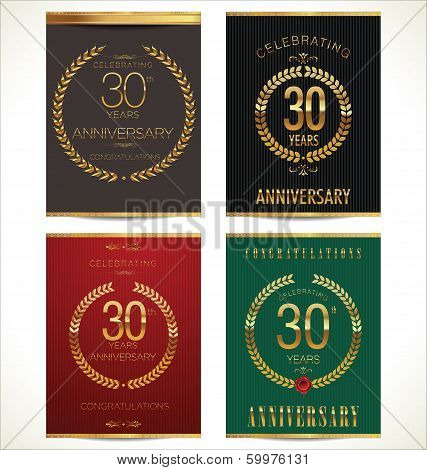 Aniverrsary laurel wreath banner collection, 30 years