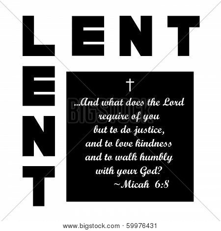 lent icon with message