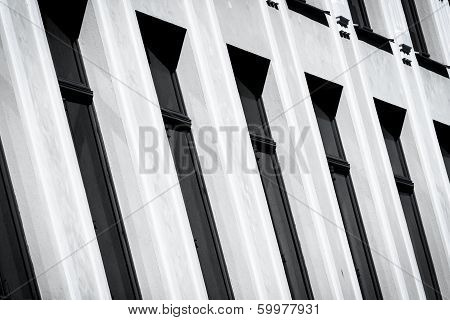 Black And White Wall With Windows