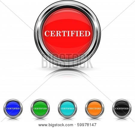 Certified Icon - Six Colors Vector Set
