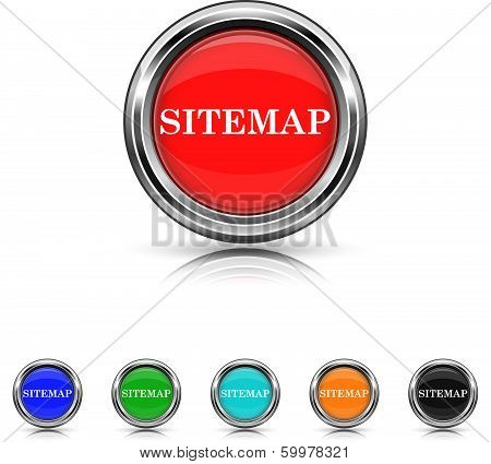 Sitemap Icon - Six Colors Vector Set