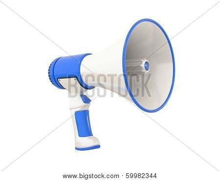 Megaphone Blue Perspective