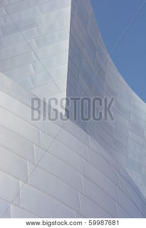 LOS ANGELES, CA - February 17, 2014: Detail of the Walt Disney Concert Hall in Downtown Los Angeles, California, designed by Frank Gehry, is the fourth hall of the Los Angeles Music Center.