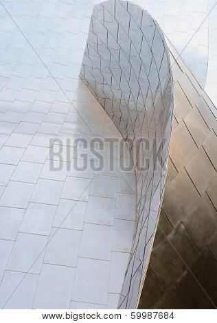 LOS ANGELES, CA - February 17, 2014: The Walt Disney Concert Hall in Downtown Los Angeles, California, designed by Frank Gehry, is the fourth hall of the Los Angeles Music Center. It opened in 2003.