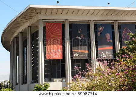LOS ANGELES, CA - February 17, 2014: The Performing Arts Center of Los Angeles County, is home to the Dorothy Chandler Pavilion, Ahmanson Theater, Mark Taper Forum and Walt Disney Concert Hall.