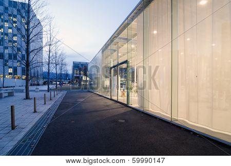 Tokyo, Japan - November 27 : Exterior of Modern Workshop in Kanagawa Institute of Technology Japan
