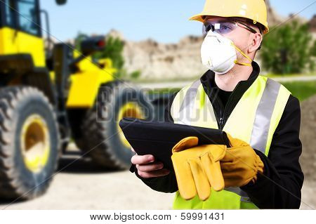 Contractor And Bulldozer
