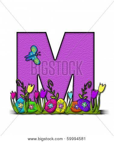 Alphabet Easter Egg Garden M