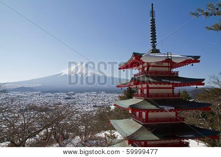 Mt.fuji At Chureito Pagoda