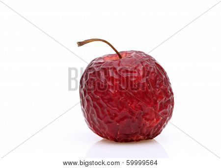 Wrinkled red apple
