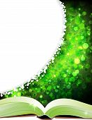 stock photo of clover  - Fairy tales book on a magic four - JPG