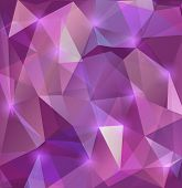 pic of cell block  - Illustration of triangle mosaic background in lilac colors - JPG