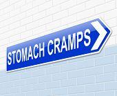 Stomach Cramps Concept.