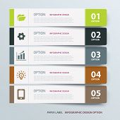 stock photo of labelling  - business option infographic label tab template set - JPG