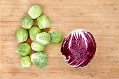 Radicchio With Brussels Sprouts