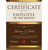 picture of employee month  - Certificate Template - JPG