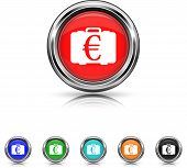 Euro Bag Icon - Six Colors Vector Set
