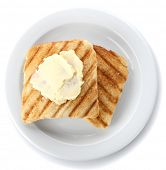 stock photo of margarine  - Grilled bread with butter - JPG