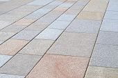 stock photo of pavestone  - Full frame of coloured paving stones to path - JPG