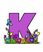 pic of letter k  - The letter K in the alphabet set  - JPG