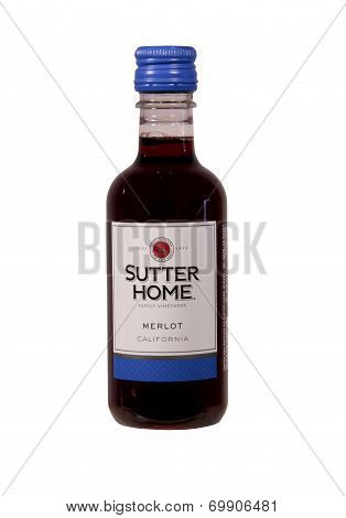 Bottle Of Sutter Home Merlot Wine