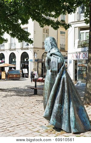 Statue Anne Of Brittany In Nantes, France