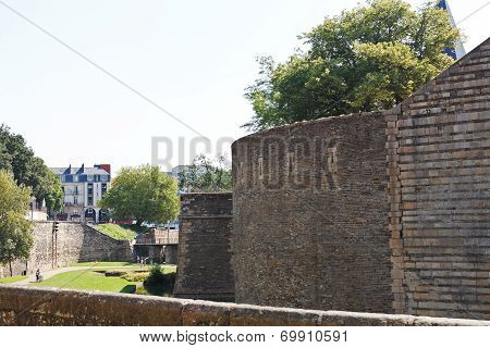Walls And Vallum Of Castle Of Dukes Of Brittany